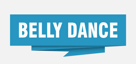 belly dance sign. belly dance paper origami speech bubble. belly dance tag. belly dance banner