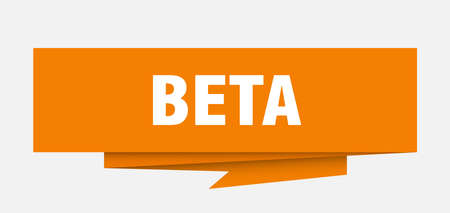 beta sign. beta paper origami speech bubble. beta tag. beta banner