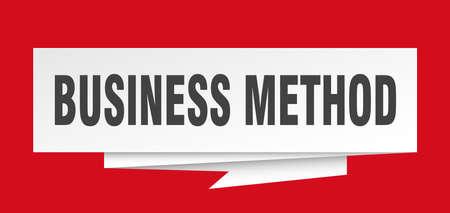 business method sign. business method paper origami speech bubble. business method tag. business method banner Illustration