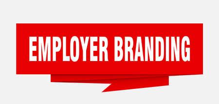 employer branding sign. employer branding paper origami speech bubble. employer branding tag. employer branding banner Vettoriali