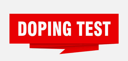 doping test sign. doping test paper origami speech bubble. doping test tag. doping test banner