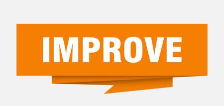 improve sign. improve paper origami speech bubble. improve tag. improve banner