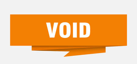 void sign. void paper origami speech bubble. void tag. void banner