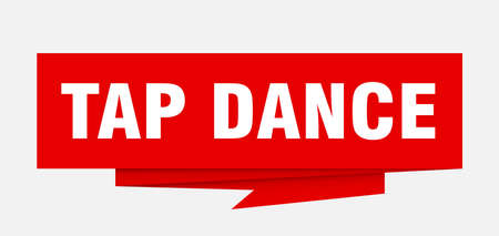 tap dance sign. tap dance paper origami speech bubble. tap dance tag. tap dance banner