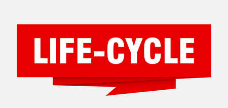 life-cycle sign. life-cycle paper origami speech bubble. life-cycle tag. life-cycle banner