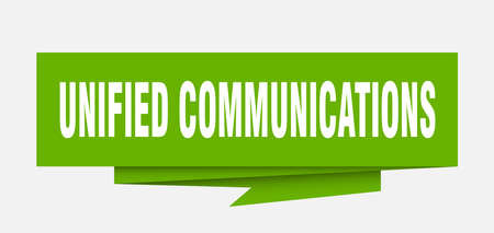 unified communications sign. unified communications paper origami speech bubble. unified communications tag. unified communications banner Vectores