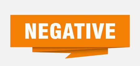 negative sign. negative paper origami speech bubble. negative tag. negative banner
