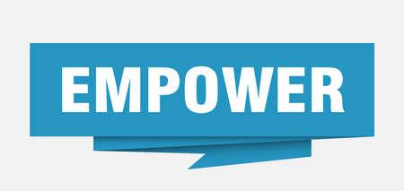 empower sign. empower paper origami speech bubble. empower tag. empower banner Vetores