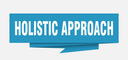 holistic approach sign. holistic approach paper origami speech bubble. holistic approach tag. holistic approach banner