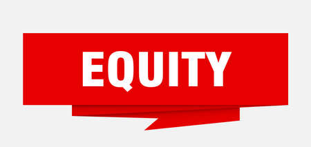 equity sign. equity paper origami speech bubble. equity tag. equity banner Illusztráció