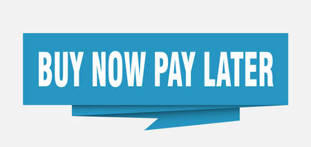 buy now pay later sign. buy now pay later paper origami speech bubble. buy now pay later tag. buy now pay later banner