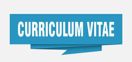 curriculum vitae sign. curriculum vitae paper origami speech bubble. curriculum vitae tag. curriculum vitae banner Illustration