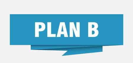 plan b sign. plan b paper origami speech bubble. plan b tag. plan b banner Illustration