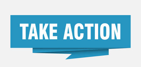 take action sign. take action paper origami speech bubble. take action tag. take action banner