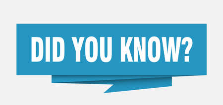 did you know sign. did you know paper origami speech bubble. did you know tag. did you know banner Illustration