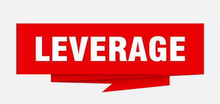 leverage sign. leverage paper origami speech bubble. leverage tag. leverage banner Illustration