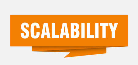 scalability sign. scalability paper origami speech bubble. scalability tag. scalability banner 向量圖像