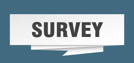 survey sign. survey paper origami speech bubble. survey tag. survey banner