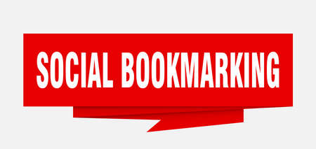 social bookmarking sign. social bookmarking paper origami speech bubble. social bookmarking tag. social bookmarking banner