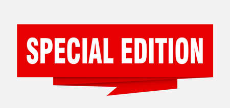 special edition sign. special edition paper origami speech bubble. special edition tag. special edition banner Illustration