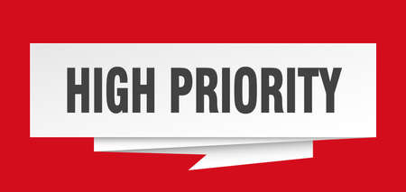 high priority sign. high priority paper origami speech bubble. high priority tag. high priority banner