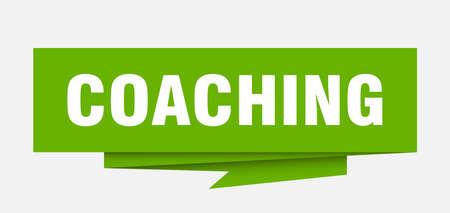 coaching sign. coaching paper origami speech bubble. coaching tag. coaching banner