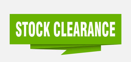 stock clearance sign. stock clearance paper origami speech bubble. stock clearance tag. stock clearance banner