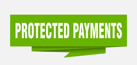 protected payments paper origami speech bubble