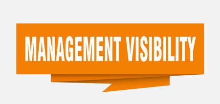 management visibility paper origami speech bubble Illustration