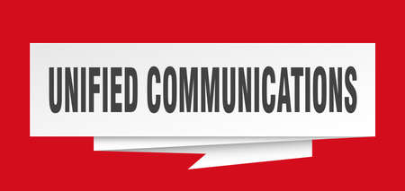 unified communications paper origami speech bubble Illustration