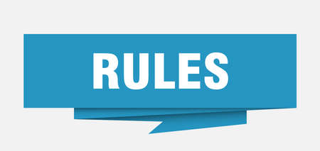 rules paper origami speech bubble