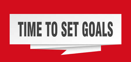 time to set goals paper origami speech bubble