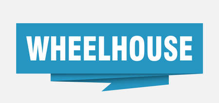 wheelhouse sign. wheelhouse paper origami speech bubble. wheelhouse tag. wheelhouse banner