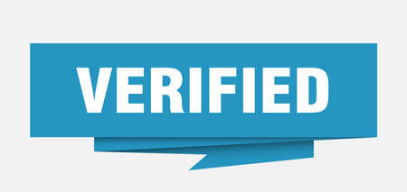 verified sign. verified paper origami speech bubble. verified tag. verified banner