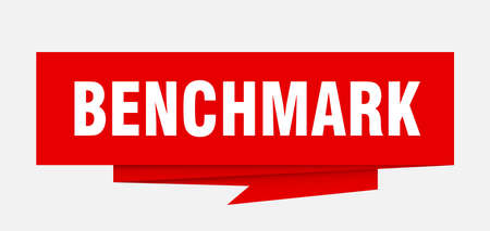 benchmark sign. benchmark paper origami speech bubble. benchmark tag. benchmark banner