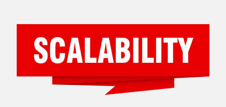 scalability sign. scalability paper origami speech bubble. scalability tag. scalability banner