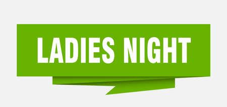 ladies night paper origami speech bubble Illustration