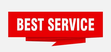 best service paper origami speech bubble Illustration