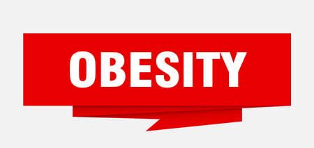 obesity paper origami speech bubble Illustration