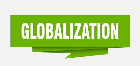 globalization paper origami speech bubble