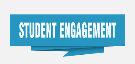 student engagement paper origami speech bubble