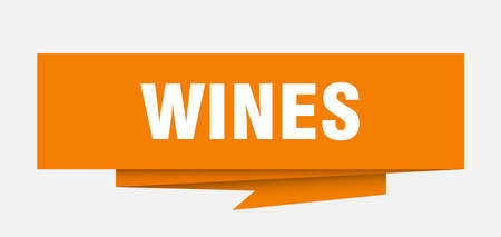 wines paper origami speech bubble