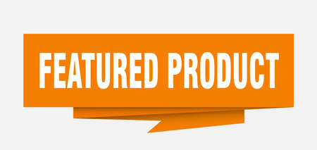featured product sign. featured product paper origami speech bubble. featured product tag. featured product banner