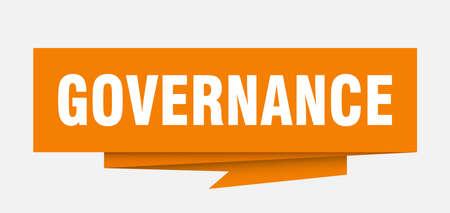 governance sign. governance paper origami speech bubble. governance tag. governance banner