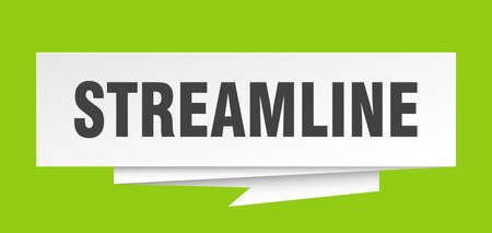 streamline sign. streamline paper origami speech bubble. streamline tag. streamline banner Illustration