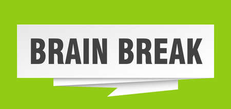 brain break paper origami speech bubble Illustration