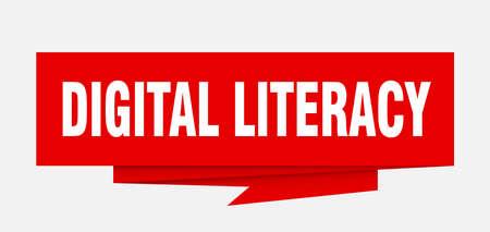 digital literacy paper origami speech bubble