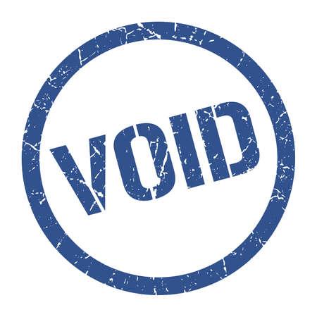 void blue round stamp