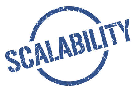 scalability blue round stamp 向量圖像