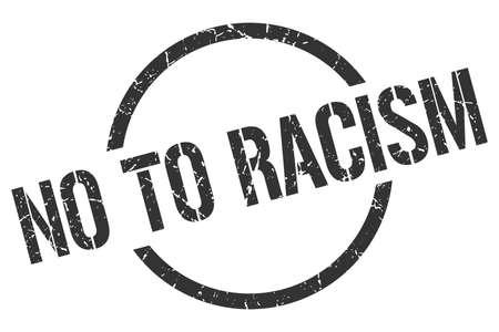 no to racism black round stamp Vettoriali